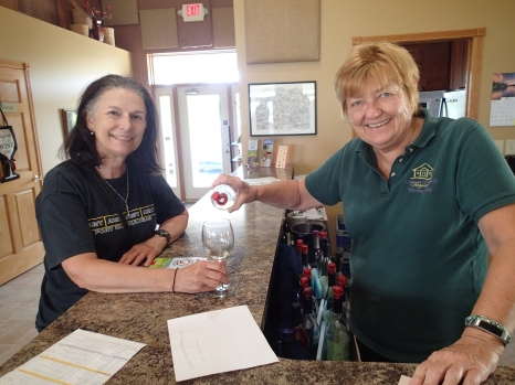 Mrs. Tiger and Owner Linda at Garvin Heights Winery