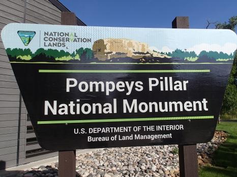 Pompey's Pillar Sign