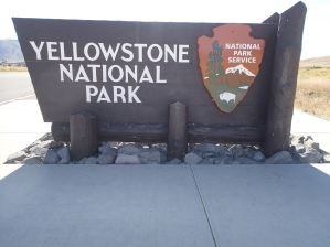 Entering Yellowstone