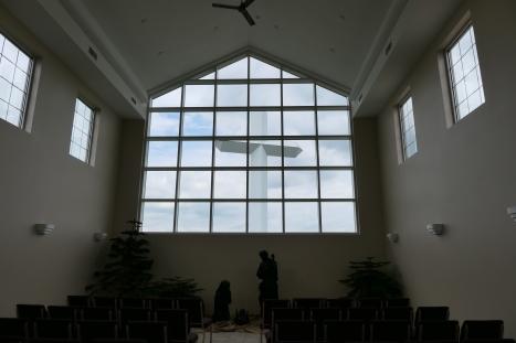 Cross from inside Chapel