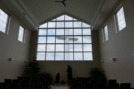 Cross from inside Chapel